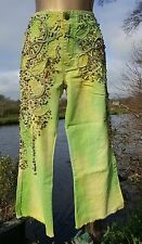 HandMade Beaded Vintage Up~cycled Boho/Gypsy/Pixie Style Cut~Off Jeans Size 8/10
