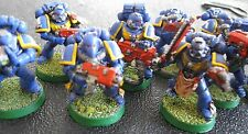 Warhammer 40000 Space Marines Tactical Squad fully painted