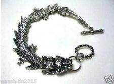 NEW Wholesale Men's pretty Tibetan Tibet Silver Bracelets dragon Bangle Bracelet