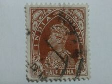 3 x INDIA STAMPS - HALF ANNA - ONE ANNA - 9 PIES - KING GEORGE VI