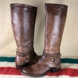 Freebird By Steven Irish Brown Leather Knee High Riding Boots Sz 10 Q065