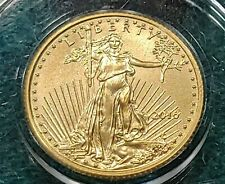 2016 American Gold Eagle 5 Dollars, 1/10 ounce  Brilliant Unc.Harder date