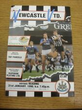 31/01/1990 Newcastle United v Reading [FA Cup] (Worn To Top Left Corner, Name No