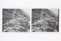 Trekking Montagne Francia Foto Stereo L1n4 Placca Da Lente Vintage