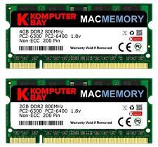 Komputerbay MACMEMORY 6GB Kit (4GB/2GB Modules) PC2-6300 800MHz DDR2 SODIMM...