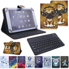 US For Amazon Kindle Fire HD 10 9th Gen 2019 Keyboard Printed Leather Case Cover