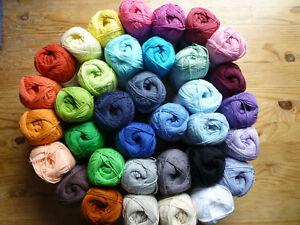 Cotton 8 Reine Baumwolle Handstrickgarn GB Häkeln Stricken Amigurumi