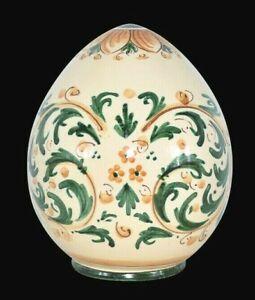 Uovo ornamentale in ceramica di Caltagirone Fabergè decorativo da collezione