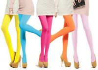 Women Candy Color Sexy Stretchy Footed Stockings Opaque Pantyhose Tights Socks