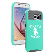 For Samsung S5 S6 S7 Edge S8 + Shockproof Impact Hard Case Cover Pit Bull Mama
