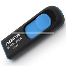 Adata Azul USB 64GB UV128 USB3.0 Flash Drive Nueva garantía de por vida ct ES