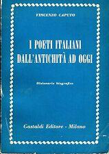 Vincenzo Caputo I POETI ITALIANI DALL'ANTICHITÀ AD OGGI DIZIONARIO BIOGRAFICO