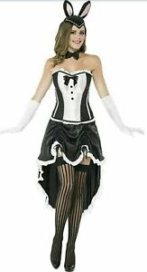 Bunny Burlesque Ladies Fancy Dress Moulin Rouge Playboy Bunny Can Can Sizes 8-18