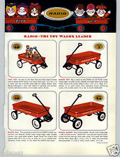 1965 PAPER AD 2 PG Radio Flyer Coaster Wagon Town & Country Scooter Toy