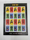 2016 Star Trek USPS Postage Stamp Sheet of 20 Forever Stamps