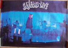 GENESIS LIVE groupe rock vintage 1980 - Rare Affiche Poster music Phil Peter