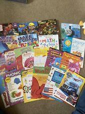 Huge Lot Assorted Kindergarten Childrens Homeschool K Workbooks Ages 4+