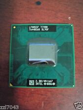 1pc Intel SL9SF Core 2 Duo Mobile T7200 2.00GHz/4MB/667MHz Socket M CPU tested o