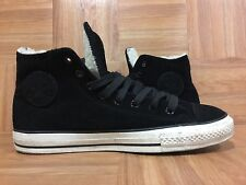 RARE🔥 Converse Chuck Taylor All Star Black Leather White Shearling Sz 10 Men's