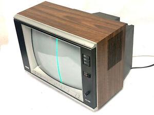 Vintage Wood Grain 1986 RCA tv XL-100 ELR336W CRT Television