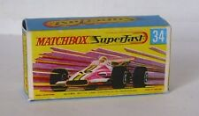 Repro Box Matchbox Superfast Nr.34  Formula 1 Racing Car