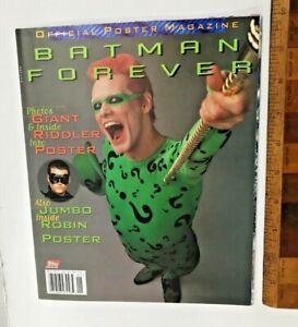 VINTAGE 1995 BATMAN FOREVER MOVIE POSTER MAGAZINE TOPPS OFFICIAL ROBIN RIDDLER!!