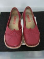 CAMPER SHOES/ FLATS MARY JANE RED LEATHER SIZE 37 UK 4/ 4.5