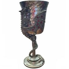 Fellowship Foundry Limited Edition 165/1500 Lorenzo Dragon Jeweled Pewter Goblet