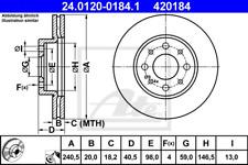 Brake Disc (2 Piece) - ATE 24.0120-0184.1