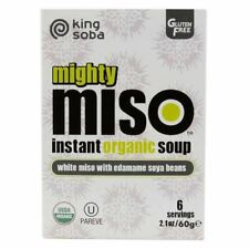 King Soba Organic Miso Soup with Edamame Beans 60g
