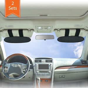 Anti-Glare Dazzle Vehicle Sun Visor Sunshade Extender Car UV Blocker 2 pieces