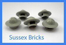 Lego Castle - 5x Light Bluish Grey Helmet Broad Rim 30273 Knights - New Pieces