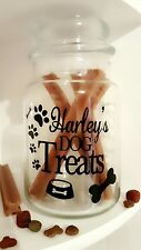 Personalised Dog/Puppy Treats Sticker for Empty Candle/Jar/Tin Pet Name Present