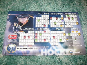 2014-2015 BUFFALO SABRES Refrigerator Magnet AND Pocket Schedule, NHL, Perry's