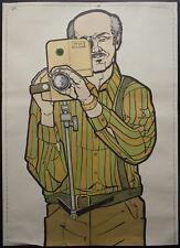 1974 ATS Quik Slip Human Figure Police Target Poster Home Movie Camera Grandpa