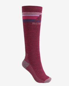 Burton Womens Emblem Midweight  Snowboard Socks S M Red 100691Y