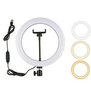10 inch Ring Light with Tripod Stand LED Camera Phone Selfie for Youtube Live UK