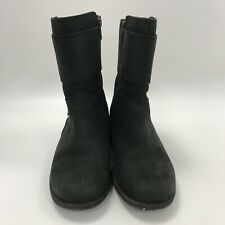 UGG Boots UK 3.5 Black Women's Casual Slip On Leather Heeled Buckled 301814