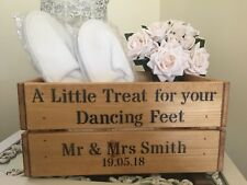 A Little Treat For Your Dancing Feet Wooden Box Crate Gift Storage Wedding Party