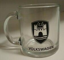 Volkswagen Glass Mug Wolfsburg Crest Logo
