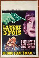 Plakat Belgischer La Tod Trifft 3 Fach Dead Ringer Bette Davis Karl Malden