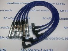 BLUE 8MM HIGH PERFORMANCE IGNITION LEADS QUALITY FOR OBD2 VW PASSAT 2.8 VR6 HT
