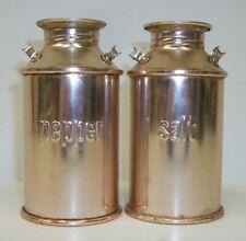 Aluminum Milk Cans Salt Pepper Shaker Set