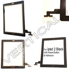 Para Ipad 2 Negro Pantalla Táctil Digitalizador Cristal Frontal Reemplazo Botón De Inicio