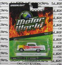GREENLIGHT 1:64 Motor World 2017 R17 Flames 1955 CHEVROLET Chevy BEL-AIR BELAIR