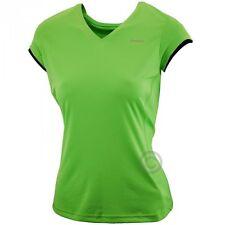 REEBOK Ladies Sushi Green V-Neck Slim Fit Tee Gym Sports Yoga Top PlayDry 14