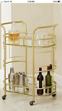 Gold Tea Cart Brand New Still In Box. Retails For $265