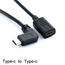 Type-c USB 90 degree Male to USB-C Female Extension OTG Cable Extender Cord  DTR