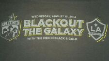 COLUMBUS CREW/L A GALAXY blackout night Aug 15 2012 T SHIRT MAJOR LEAGUE SOCCER
