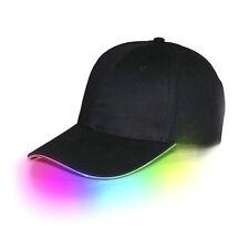 Adjustable LED Light Up FEDORA HAT Flashing Baseball Hip-Hop cap hat cricket cap